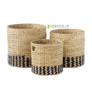 Round kauna grass planters
