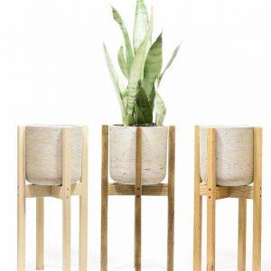 Pinewood planter stand